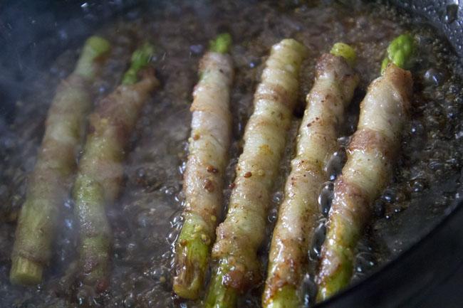 アスパラと豚肉を炒める02