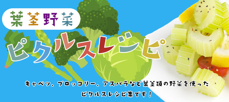 ピクルスレシピ葉茎類