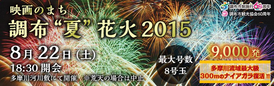 """市制60周年記念 映画のまち調布""""夏""""花火2015"""