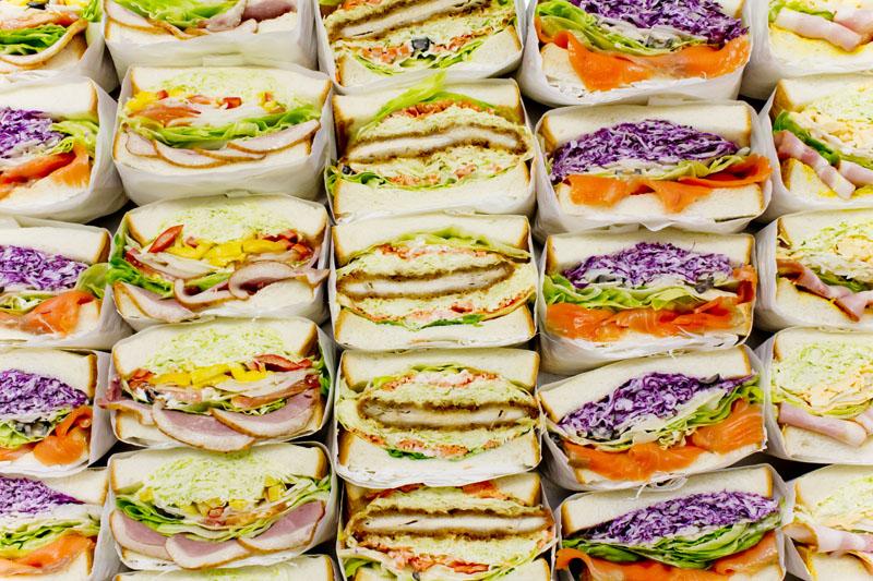 萩野菜ピクルスサンドイッチ